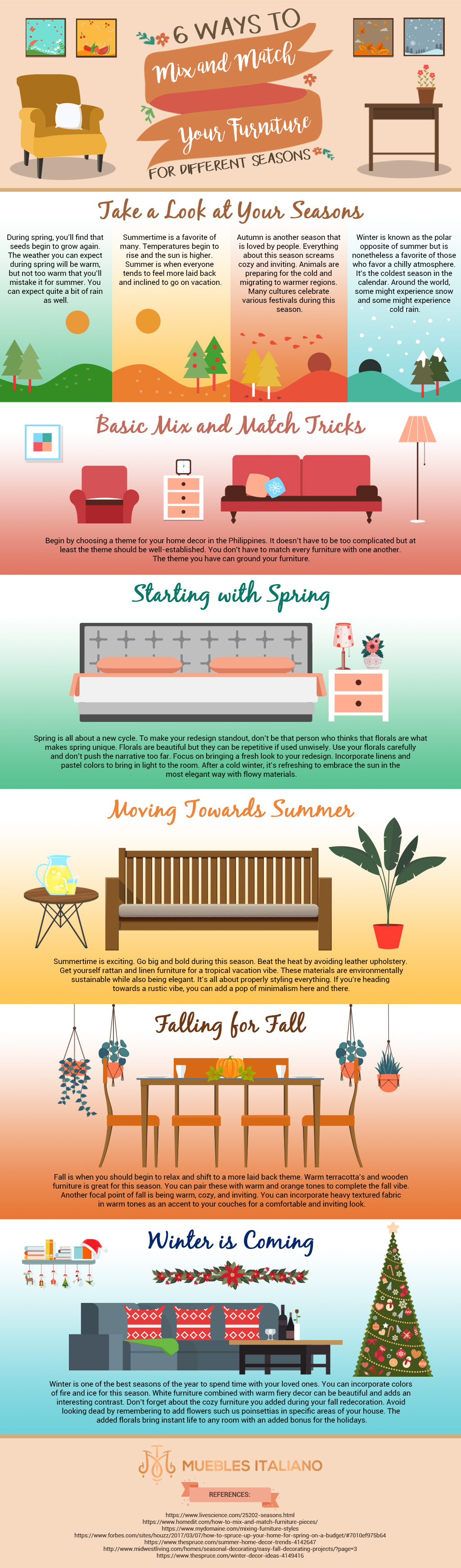 Infog 6 Ways To Mix And Match Your Furniture For Different Seasons