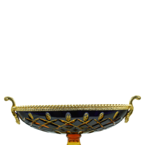 OVAL FOOTED BOWL CASED CRYSTAL