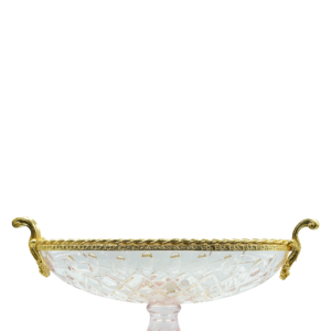 TOSCA COLOR OVAL TRAY w/ BRASS