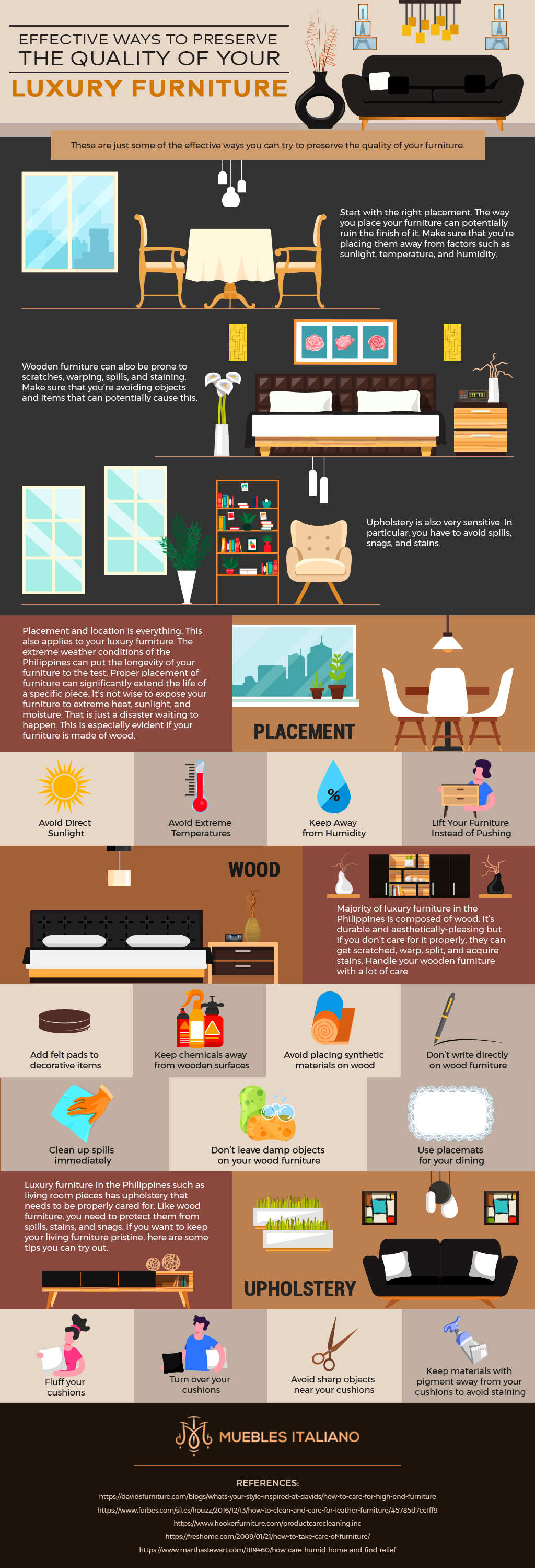 Infog Effective Ways To Preserve The Quality Of Your Luxury Furniture