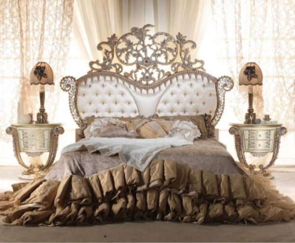 Aida Collection Gold Bed
