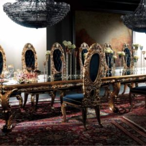 Experience Collection Black and Gold Dining Set