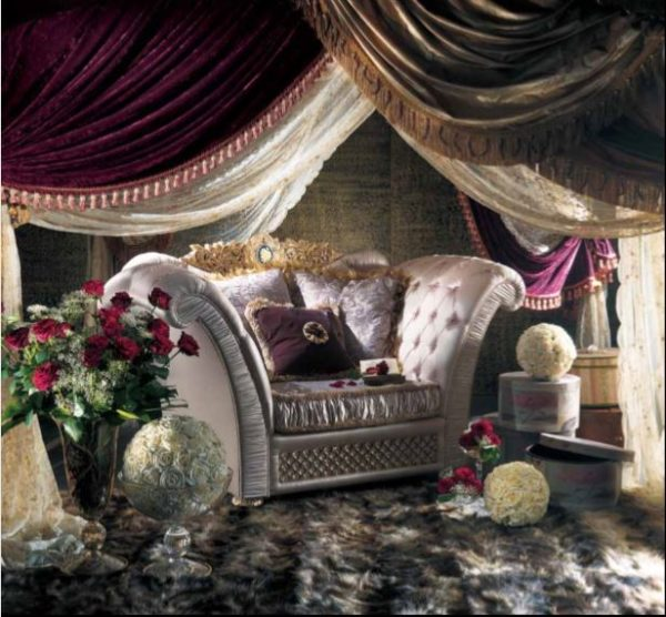 Experience Collection Gold And White Pearl Armchair