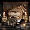 Experience Collection Gold And White Pearl Bedroom Set