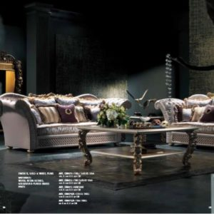 Experience Collection Gold and White Pearl Living Room Set