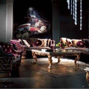 Experience Collection Sofa Set with Gold Brass Details
