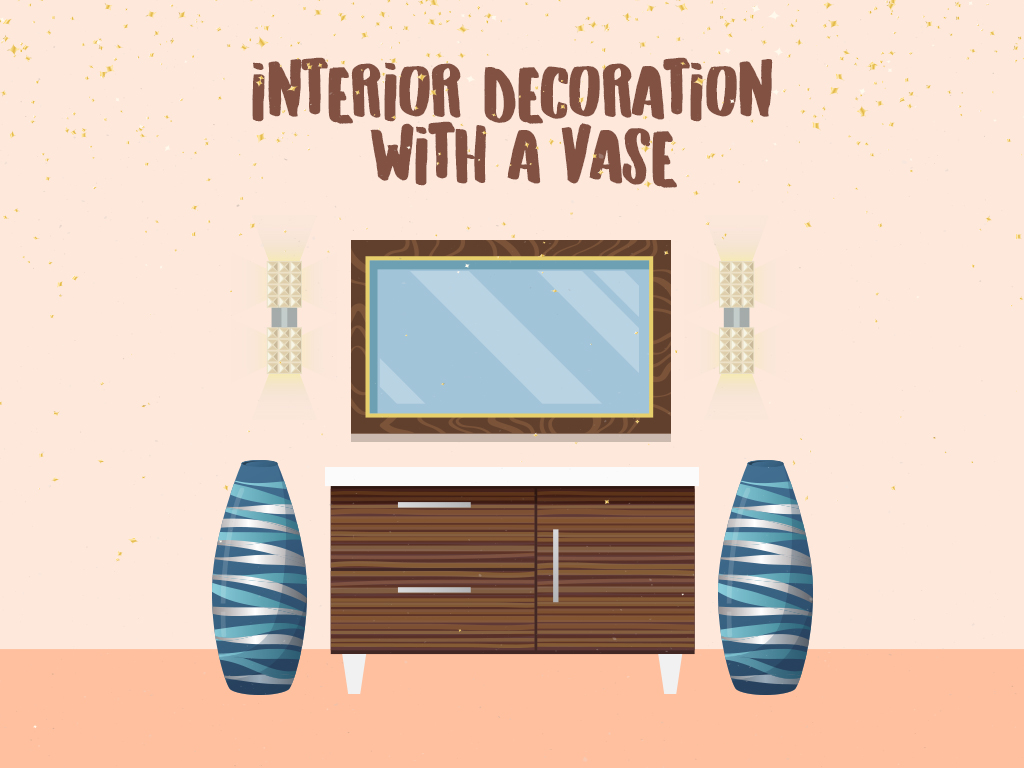 Interior Decoration With A Vase
