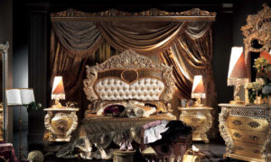 A bedroom set from the Experience Collection of Muebles Italiano