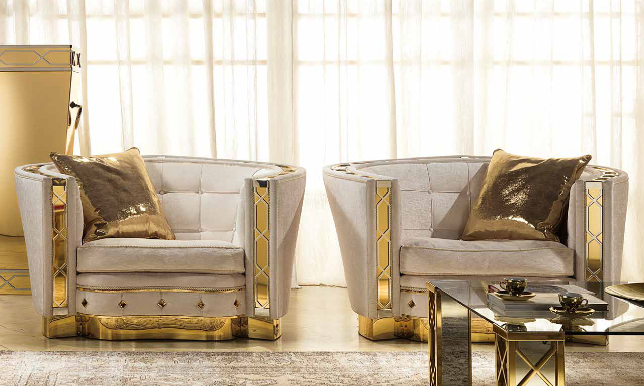 Two living room chairs from Muebles Italiano's Lilium Living Set