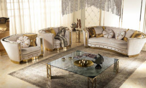 Whole living room spread from Muebles Italiano's Lilium Living Set
